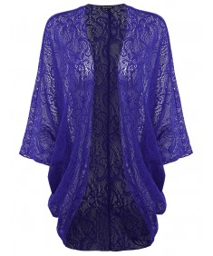 Women's Flowy Loose Lace Kimono Cardigan Blouse Top