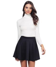 Women's Basic Slim Fit Lightweight Ribbed Turtleneck Sweater
