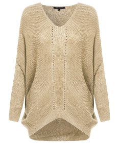 Women's Basic Knit Sweater With Dolman 3/4 Sleeves