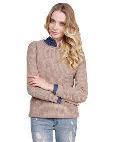 Women's Classic Rounded Scoop Neck Sweater