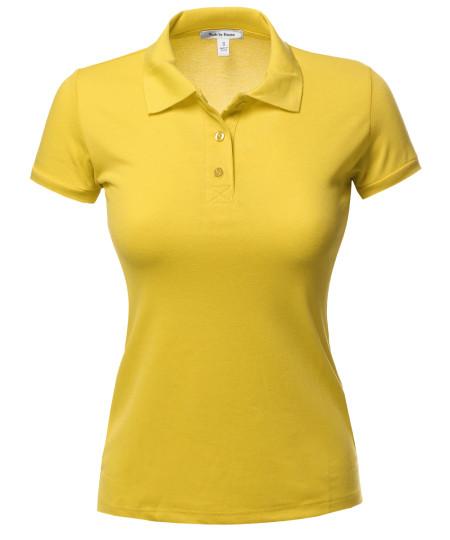 Women's Classic Pique Polo Top