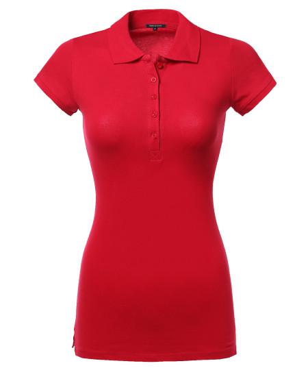 Women's Women's Basic Polo Shirt in Various Colors