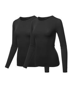 Women's Lightweight Daily Casual Basic Crew-Neck Long Sleeve Tee