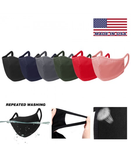 Unisex's [Made in USA] Breathable and Reusable BLACK Face Mask