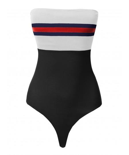 Women's Casual Off Shoulder Chest Detail Bodysuit