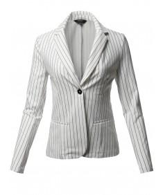 Women's Casual Stylish Patterned Long Sleeves Blazer Jacket