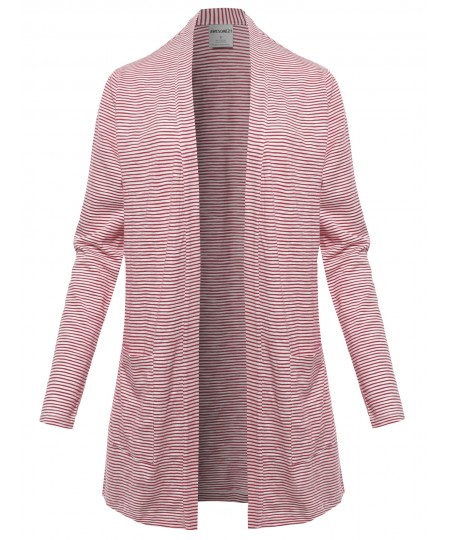 Women's Casual Lightweight Open Front Cotton Cardigan