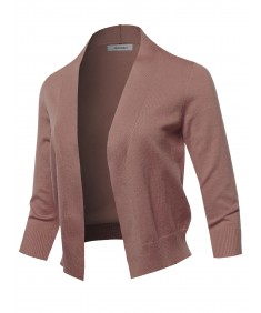 Women's Solid Classic Open Front Cardigan