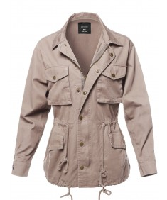Women's Causal Basic Over-Sized Utility Anorak Jacket