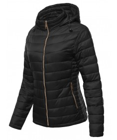 Women's Women's Winter Quilted Puffer Padded Warm Jacket With Hood