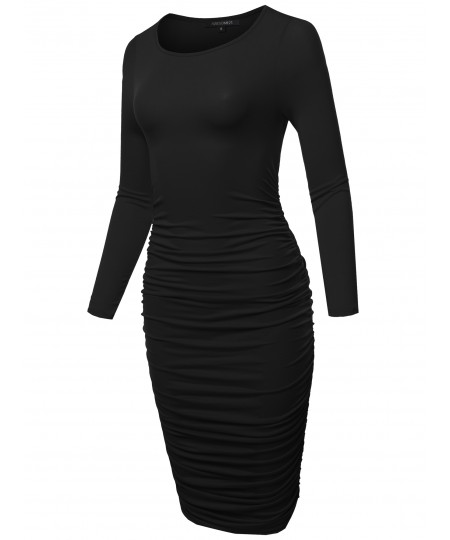Women's Holiday Long Sleeve Party Evening Dress