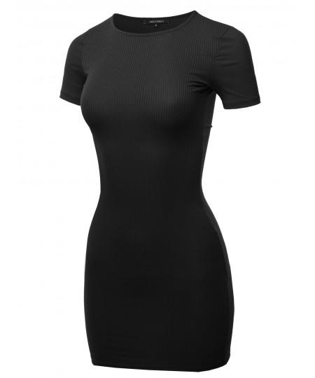 Women's Solid Cute Mini Dress