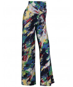 Women's MADE IN USA Soft Stretch Breathable Multicolor Palazzo Pants