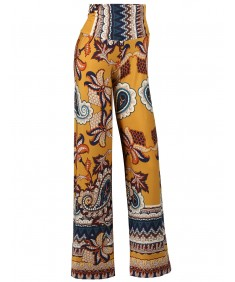 Women's MADE IN USA Soft Stretch Breathable Paisley Palazzo Pants