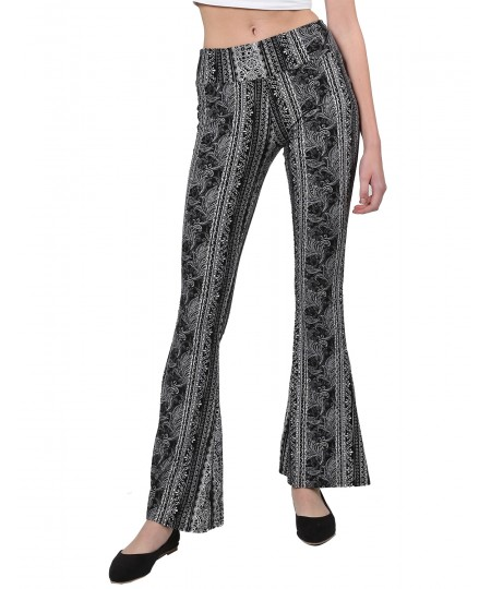 Women's Casual Boho Comfy Stretchy Fit and Flare Printed Pants