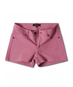 Women's Solid Stretchable Basic Plain Ponte Short Pants
