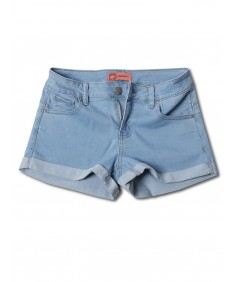 Women's Casual Push Up Roll-up Cuff Denim Shorts