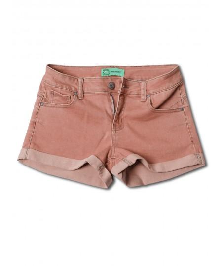 Women's Casual Push Up Roll-up Cuff Denim Shorts