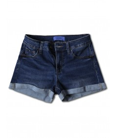 Women's Casual Push-up Roll-up Cuff High-rise Denim Shorts
