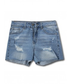 Women's Casual Distressed Mid-Rise Cute Denim Shorts