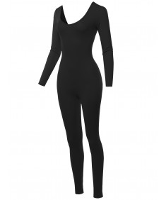 Women's Solid Sexy One Piece Shapewear Bodycon Jumpsuit