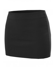Women's Solid Mini Pencil Skirt