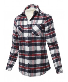 Women's Casual Sherpa Lining Flannel Shirt