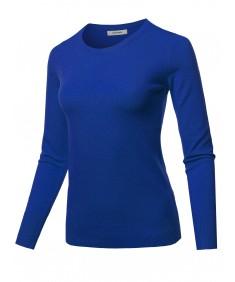 Women's Long Sleeve Crew Neck Classic Sweater