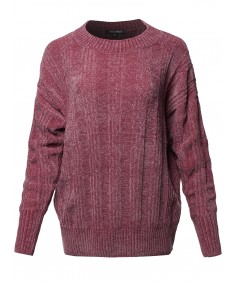 Women's Casual Velvet Yarn Over-Sized Sweater Top