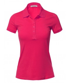 Women's Basic Short Sleeve School Uniform Polo Top