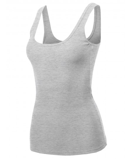 Women's Solid Sleeveless Casual Tank Top