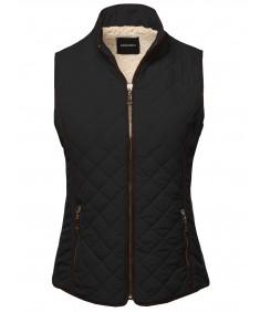 Women's Solid Padded Lightweight Puffer Vest
