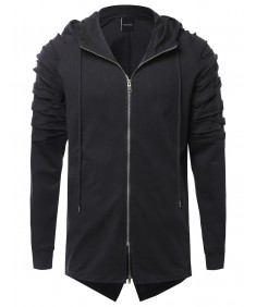 Men's Oversized Hoodie Jacket With Sleeve Cutouts