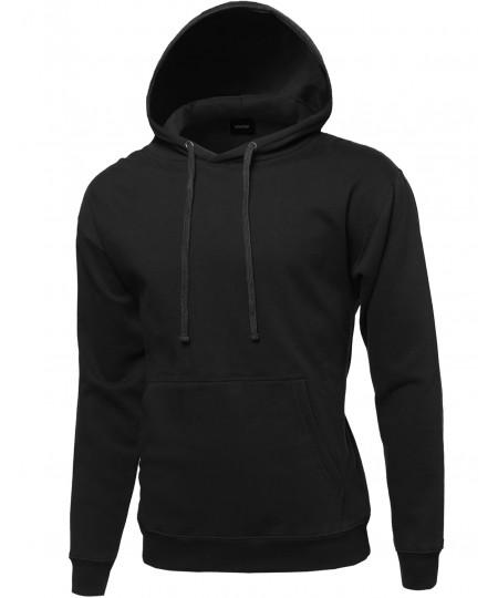 Men's Basic Pullover Oversided Hoodie