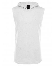 Men's Cotton Based French Terry Sleeveless Side Zippered Hoodie