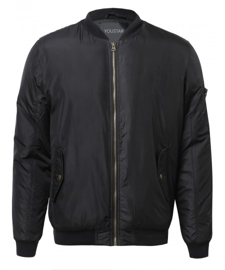 Men's Classic Bomber Jacket