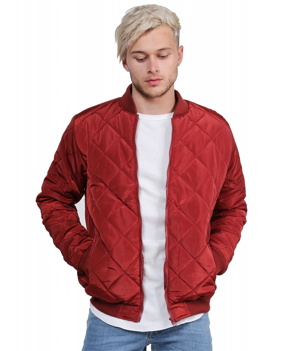 Men's Warm Casual Classic Quilted Padded Bomber Flight Jacket Coat ... : quilted flight jacket - Adamdwight.com