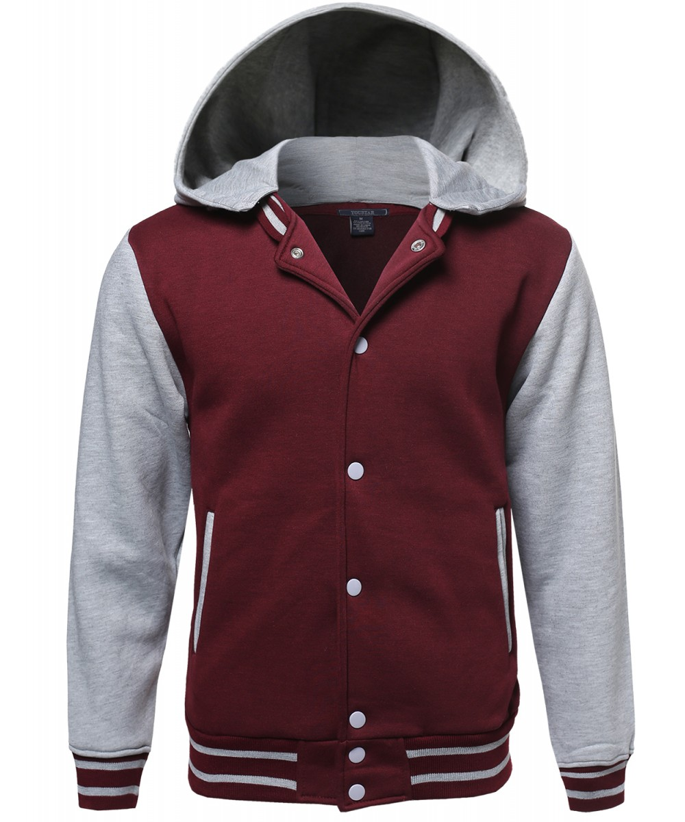 Men's University College Varsity Team Baseball Hoodie Jacket Coat ...