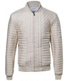 Men's Men's Geometrical Patterned Bomber Jacket