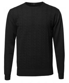 Men's Basic Textured Handsome Crewneck Sweater