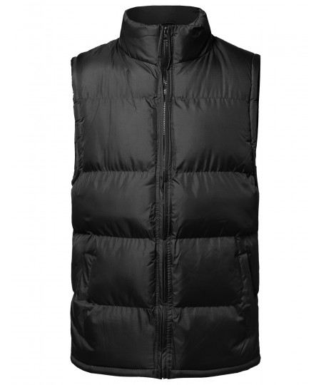 Men's Solid Zip-Up Vest