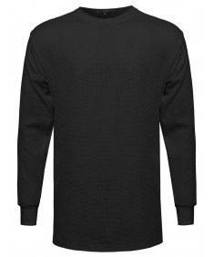 Men's Basic Long Line Thermal Long Sleeve Tee