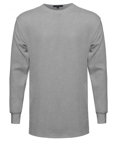 Men's Basic Long Line Thermal Long Sleeve Tee