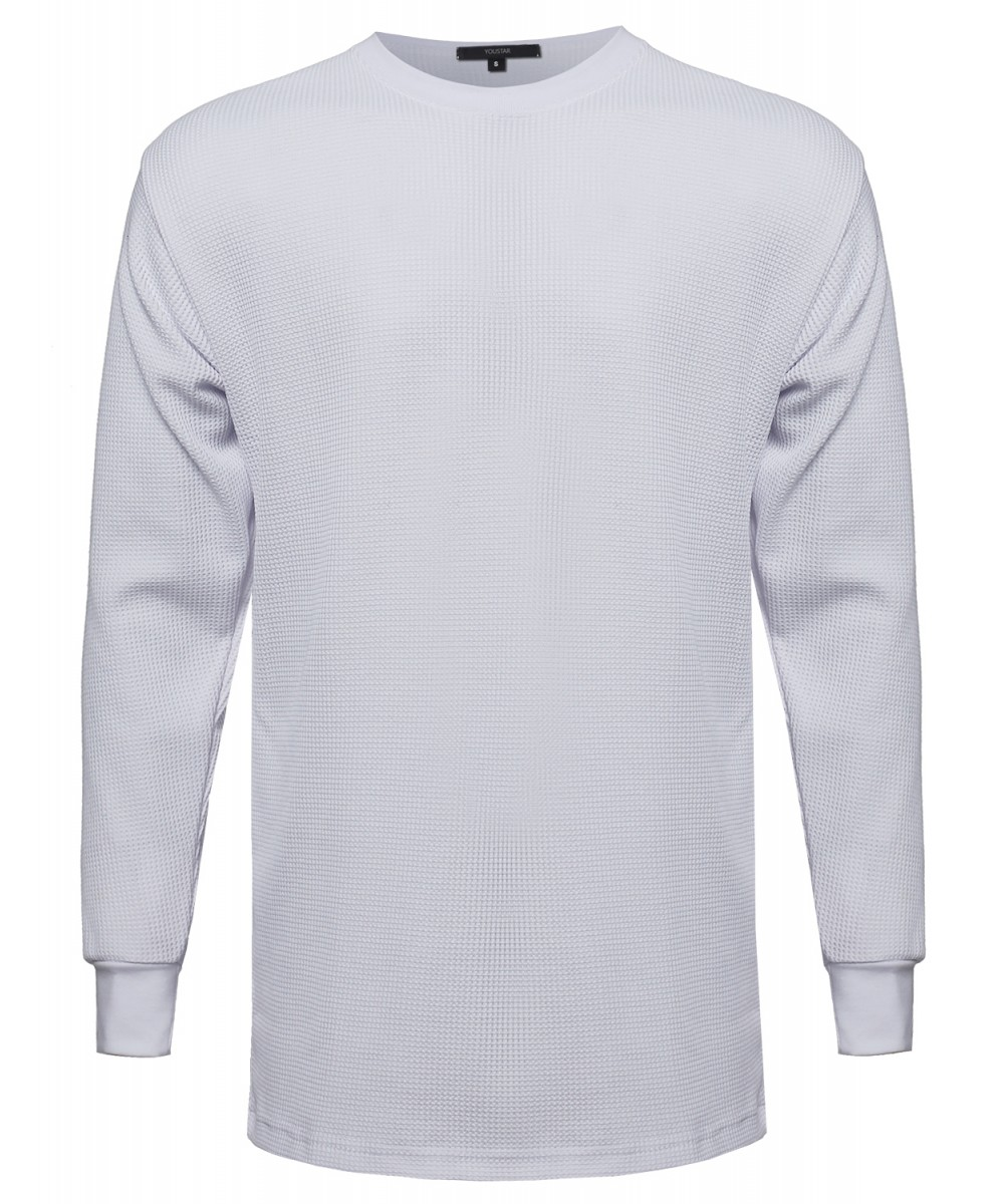 Men casual basic long line textured thermal long sleeve for Thermal t shirt long sleeve