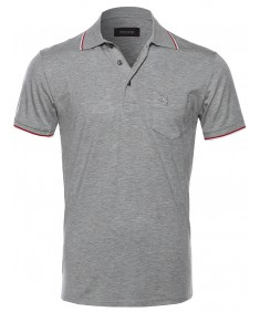 Men's Collared Polo T-Shirt in Various Colors and Styles