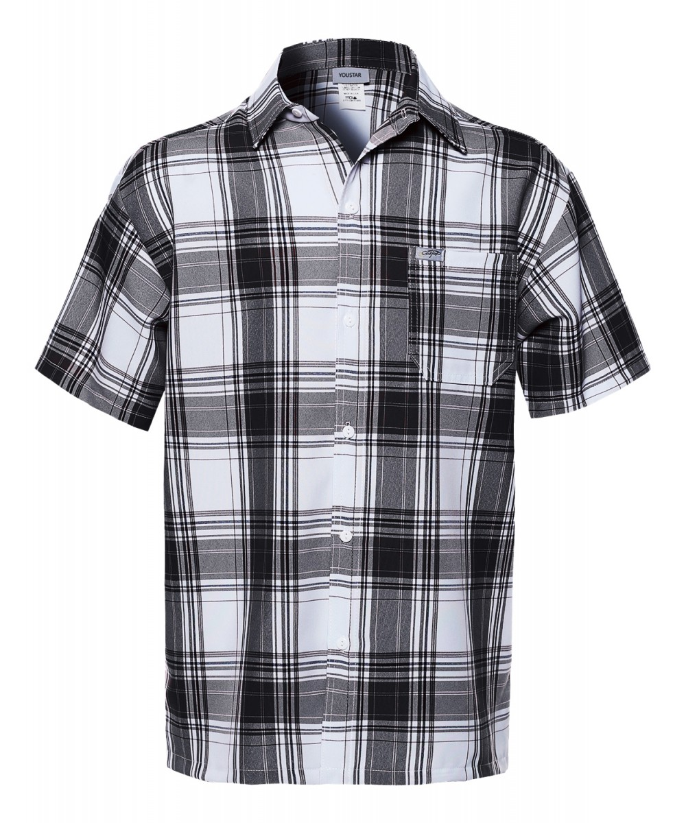 Youstar Mens Short Sleeve Button Down Shirts