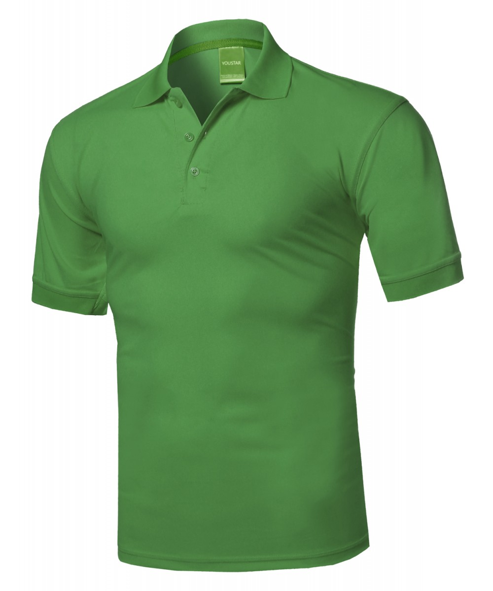 Men 39 s men 39 s atheltic short sleeve collared golf polo shirt for Cool dri polo shirts