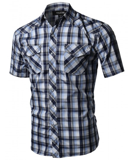 Men's Western Casual Button Down Shirt