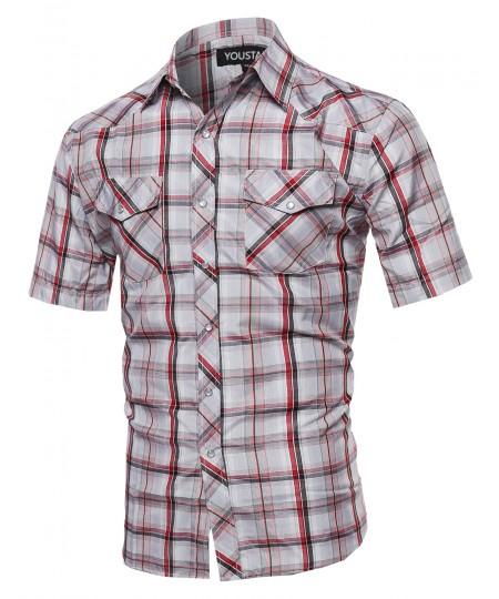 Men's Western Casual Button Down Shirt
