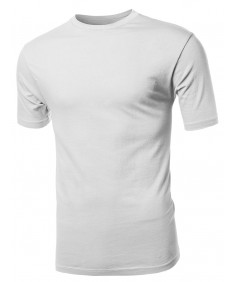 Men's Basic Solid Crewneck Men's Various Color Crew Neck Tee